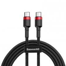 Kabel Baseus, Cafule, USB-C na USB-C, 60W, 2m, červerná/černá