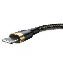 Kabel Baseus, Cafule, USB na Lightning, 2,4A, 0,5m, zlatá/černá
