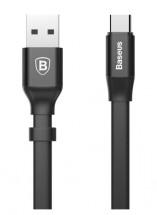 Kabel Baseus, Nimble, USB-C, 0,2m, černá