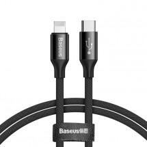 Kabel Baseus, Yiven, 2A, 1m, černá