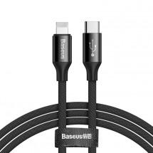 Kabel Baseus, Yiven, 2A, 2m, černá