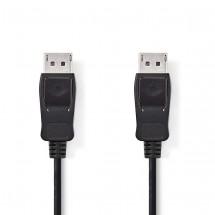 Kabel DisplayPort zástrčka NEDIS, černý,2m