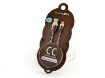 Kabel Lightning na USB, gumový 1m, CC, hnědá/žlutá