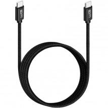 Kabel USB-C to USB-C, 3A, 3m, černá