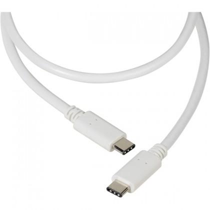 Kabel Vivanco USB Typ C na USB Typ C 1,2m, bílá