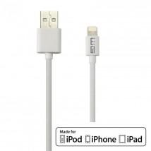 Kabel WG Lightning s MFI na USB, 1m, bílá