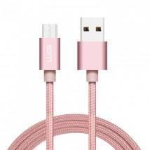 Kabel WG Micro USB na USB, 1m, růžová