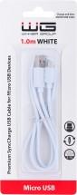 Kabel WG Micro USB na USB, 2,1A, 1m, bílá