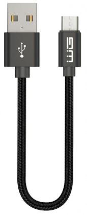 Kabel WG Micro USB na USB, 20cm, černá
