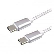 Kabel WG Typ C na Typ C, 3A pro PD nabíječky až 60W, 1m, bílá