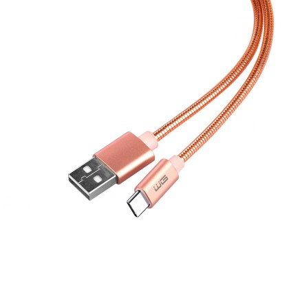 Kabel WG USB Typ C na USB, 1m, růžová