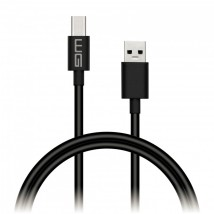 Kabel WG USB Typ C na USB, prodloužený konektor, 1m, černá