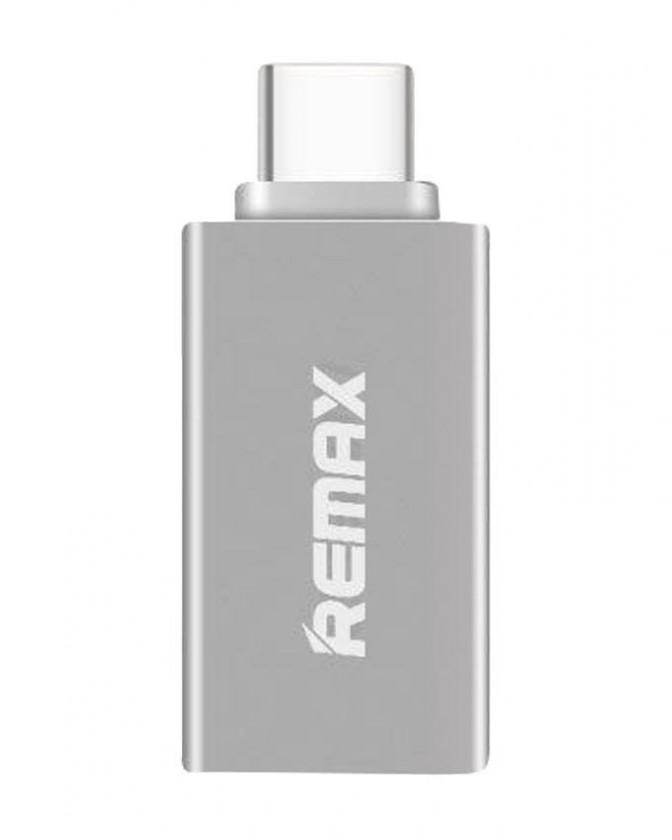 Kabely k telefonům a tabletům Adaptér Remax USB na USB Typ C s OTG, stříbrná