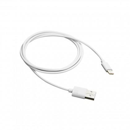 Kabely k telefonům a tabletům Kabel Canyon USB Typ C na USB, 1m, bílá