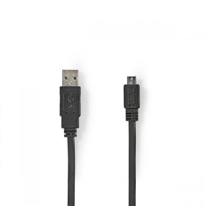 Kabely k telefonům a tabletům Kabel Nedis Micro USB na USB, 1m, černá