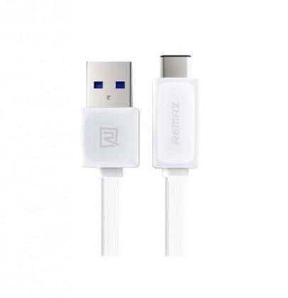 Kabely k telefonům a tabletům Kabel Remax USB Typ C na USB, 1m, bílá