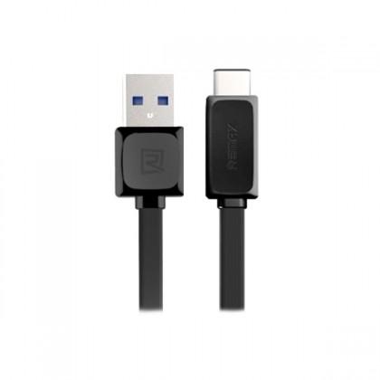 Kabely k telefonům a tabletům Kabel Remax USB Typ C na USB, 1m, černá