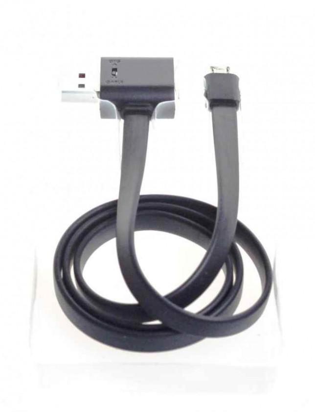 Kabely k telefonům a tabletům Remax datový kabel RAINBOW micro USB, OTG  USB konektorem,0,7m
