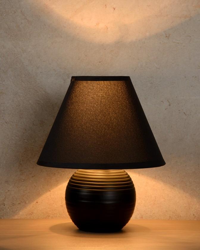 Kaddy - lampička, 40W, E14 (černá)