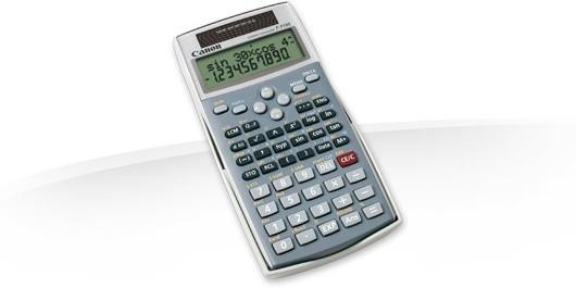 Kalkulačka Canon F-715 S, šedá