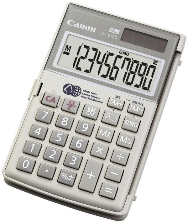 Kalkulačka Canon LS 10 TEG HWB, bílá
