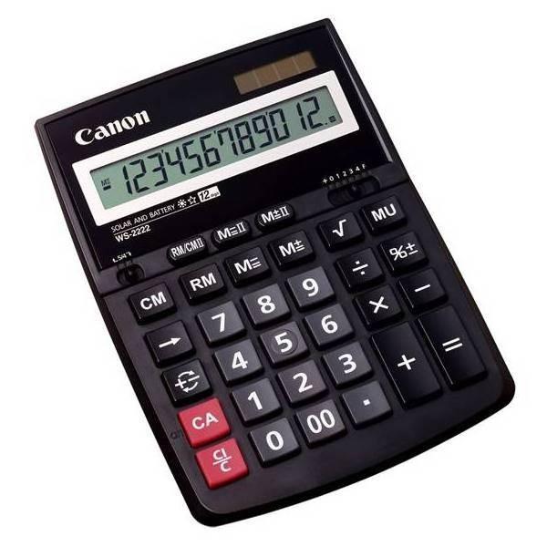 Kalkulačka Canon WS-2222 EURO, černá