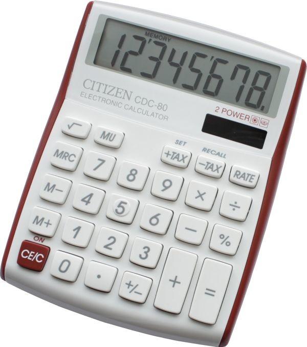Kalkulačka Citizen CDC-80V, červená