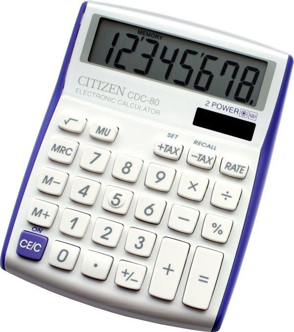 Kalkulačka Citizen CDC-80V, fialová