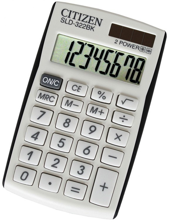 Kalkulačka Citizen SLD-322BK, bílá