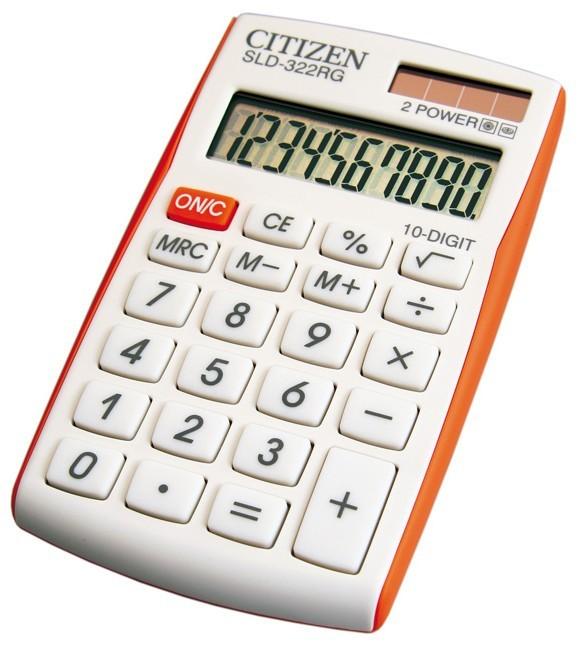 Kalkulačka Citizen SLD-322RG, oranžová