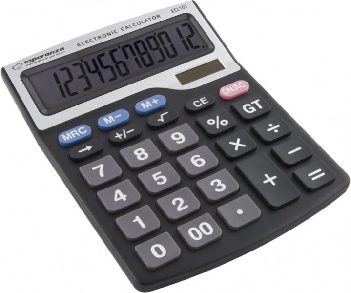 Kalkulačka Esperanza ECL101 TALES, černá