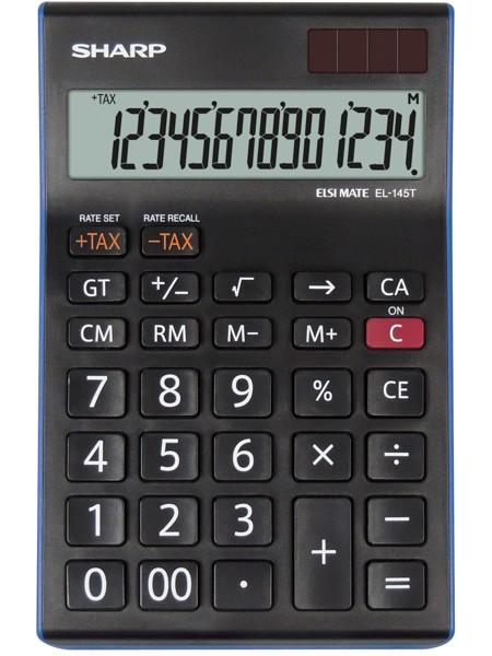 Kalkulačka Kancelářská kalkulačka Sharp EL-145TBL, solární napájení