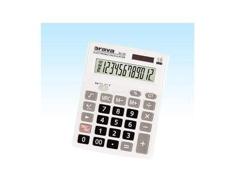 Kalkulačka Orava DC 102, bílá