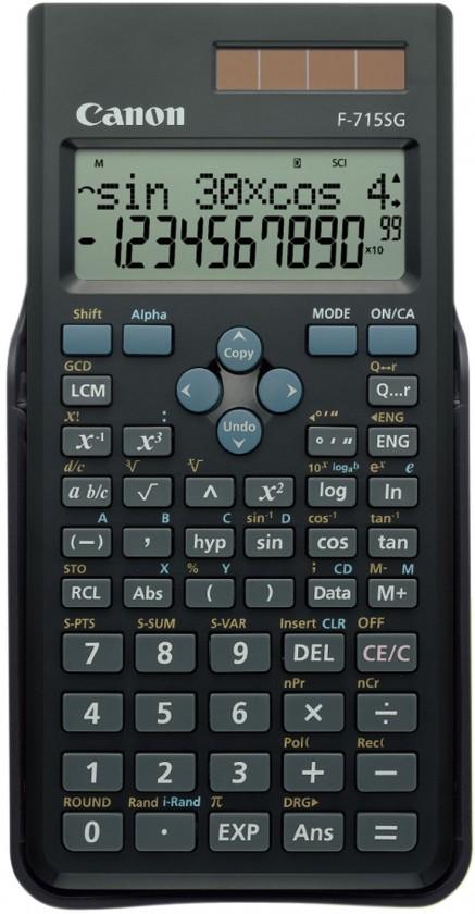 Kalkulačka Pokročilá vědecká kalkulačka Canon F-715SG, solární, 250 funkcí
