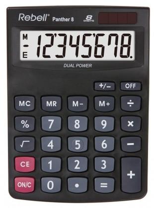 Kalkulačka Rebell Panther 8, černá