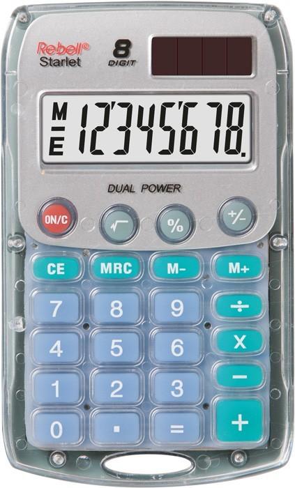 Kalkulačka Rebell StarletBX, transparentní