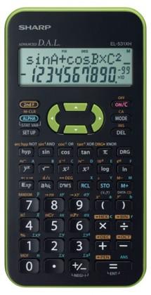 Kalkulačka Sharp EL-531XHGRC, zelená