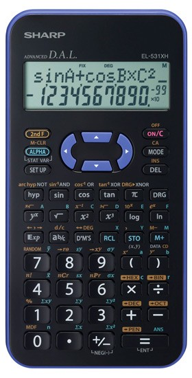 Kalkulačka Sharp EL-531XHVLC, fialová