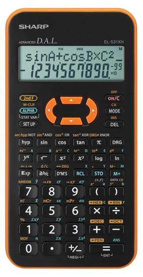Kalkulačka Sharp EL-531XHYRC, oranžová