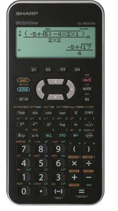 Kalkulačka Sharp EL-W531XHSLC, stříbrná