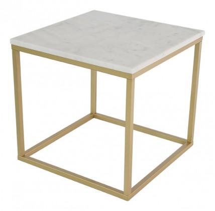 Kamenné konferenční stolky Konferenční stolek Accent - čtverec (mramor, hnědá)