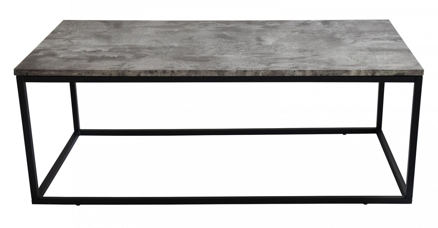 Kamenné konferenční stolky Konferenční stolek Beside - černé nohy (kov, lamino)
