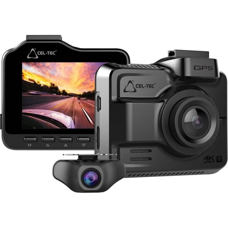 Kamera do auta Autokamera CEL-TEC K4 dual GPS, WiFi, 4K, 160°