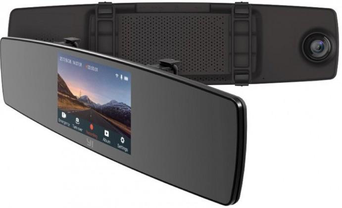Kamera do auta Autokamera YI Mirror Dash Full HD, Wi-Fi + zadné HD kamera