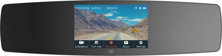 Kamera do auta Autokamera YI Mirror Dash Full HD, Wi-Fi + zadní HD kamera