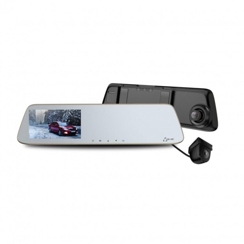 """Kamera do auta Duální autokamera Cel-tec M6s, FullHD, LDWS, 5"""" dotykové zrcátko"""