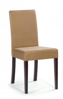 Kamil - jídelní židle (béžová sofia 25, ořech tmavý)