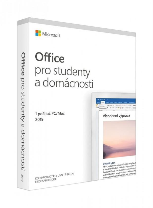 Kancelářská aplikace Microsoft Office 2019 pro studenty a domácnosti SK (79G-05164)