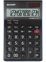 Kancelářská kalkulačka Sharp EL-145TBL, solární napájení