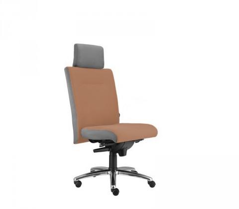 kancelářská židle Asidum s podhlavníkem, synchro P (alcatraz 40, sk.3)
